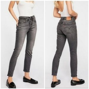 Levi's 501 free people skinny button fly jeans NWT